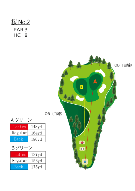 HOLE NO.2(桜)