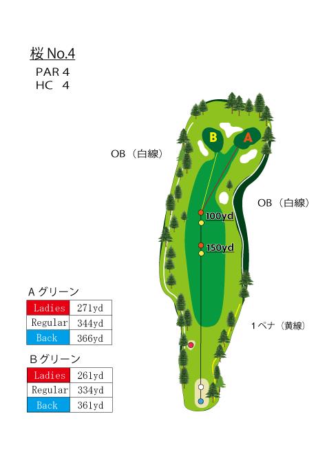 HOLE NO.4(桜)
