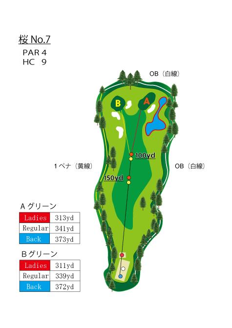 HOLE  NO.7(桜)